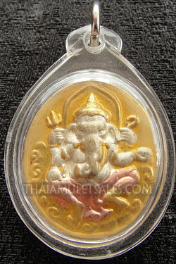 Waterproof Ganesh amulet from Thailand.