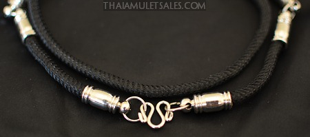 Fancy black premium Thai amulet necklace from Thailand.