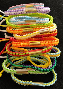 All our blessed                     Buddhist bracelets.