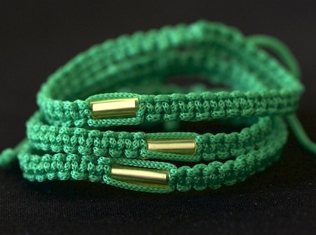 Like a friendship bracelet, this is a blessed Buddhist bracelet from the Wat Tum Sua temple in Krabi, Thailand.